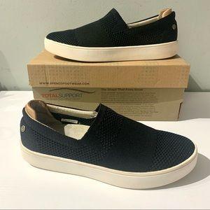 Spenco bahama slip on black shoes